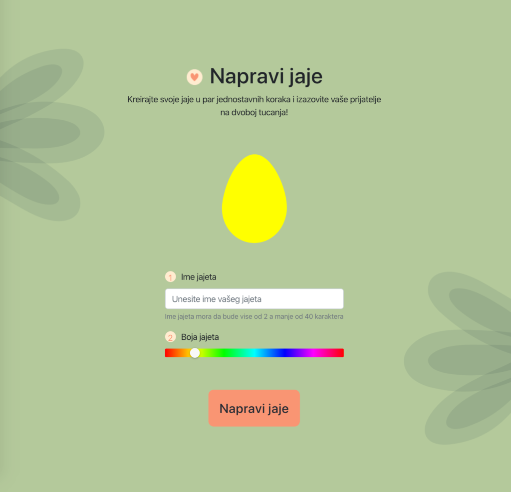 color picker for the egg